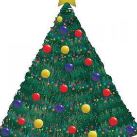 Christmas Tree Vector - Free vector #219153