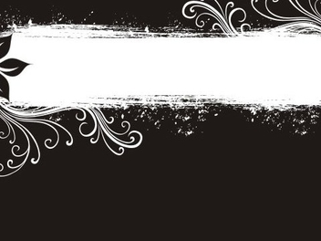 Black and white banner - Free vector #219163