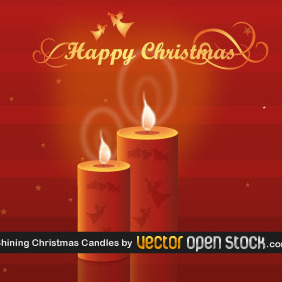 Shining Christmas Candles - Free vector #219193