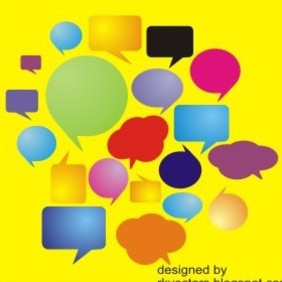 Colorful Speech Bubbles And Dialog Balloons - Kostenloses vector #219283
