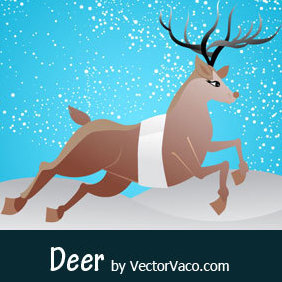 Deer Vector Art - vector #219313 gratis