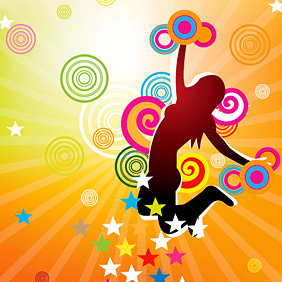 Colorful Jump - vector gratuit #219543