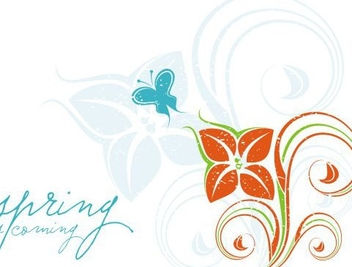 Spring is coming - vector #219653 gratis