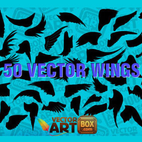 Free Wings Silhouettes - vector gratuit #219713