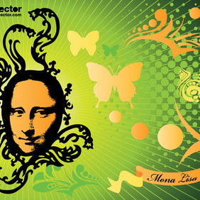 Mona Lisa Vector - бесплатный vector #219733