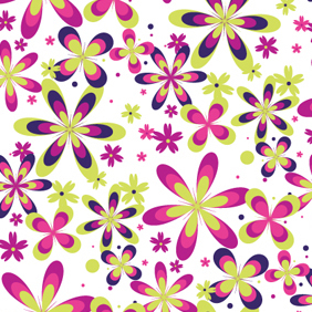 Free Seamless Flower Pattern - Kostenloses vector #219783