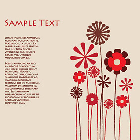 Flowers Background Template - vector gratuit #219823