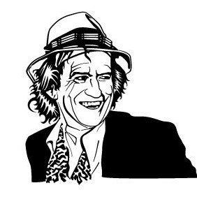 Keith Richards Vector Portrait - Free vector #219853