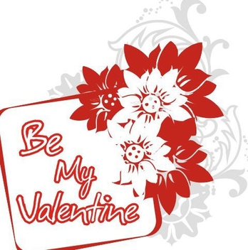 Be My Valentine Banner - бесплатный vector #219863