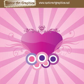 Cute Abstract Heart Image - Free vector #219913