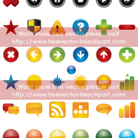 Web Icons - vector #220183 gratis