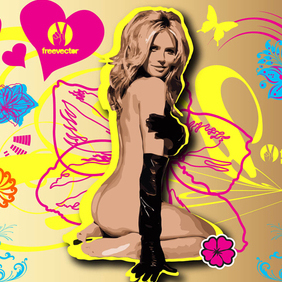 Pin-Up Heidi Klum - vector gratuit #220273