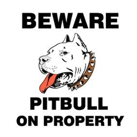 Beware Pitbull Sign - Free vector #220313