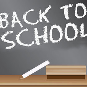 Back To School Blackboard Sign - Kostenloses vector #220383