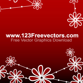 Vector Flower Background - 1 - Kostenloses vector #220423