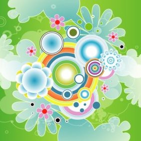 Colorful Green Design Vector Graphic - Free vector #220733