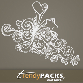 Free Hand Drawn Vector Ornaments 2 - Free vector #220743