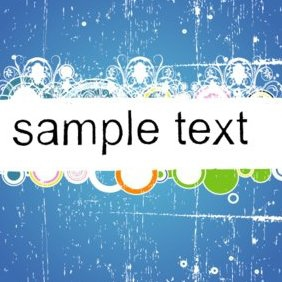 Blue Grungy Banner - Free vector #220803
