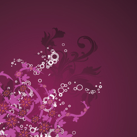 Beautiful Purple Floral Background - vector #220863 gratis