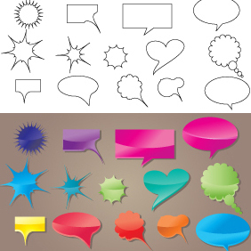 Speech Bubble Vector - Free vector #220903