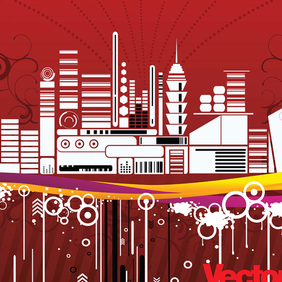 Free Urban City Vector Illustration - Free vector #220933