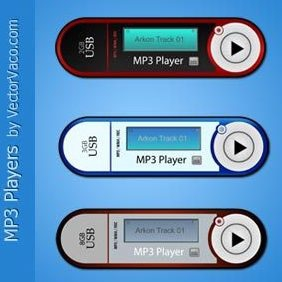Vector Mp3 Player - Free vector #220983