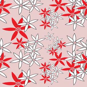 Vector Flower Pattern - Free vector #221033