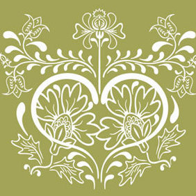 Vintage Floral Design Vector Graphic - Free vector #221053