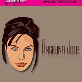 Angelina Jolie Face - Free vector #221083