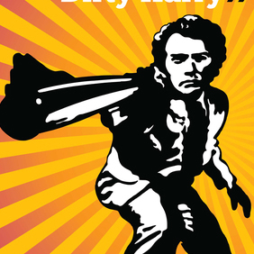 Iconic Cult Movie Vector Art: Dirty Harry - Kostenloses vector #221123