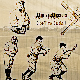 Olde-Time Baseball Vectors - Free vector #221273