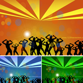 Dance Party Vector - Free vector #221303