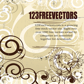Floral Vector Background - vector #221363 gratis