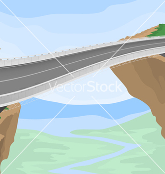Free mountain bridge vector - vector gratuit #221473