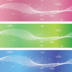Three Banner Vector - vector #221513 gratis