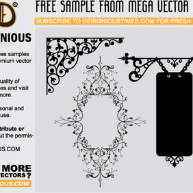 Free Floral Ornaments - Kostenloses vector #221593