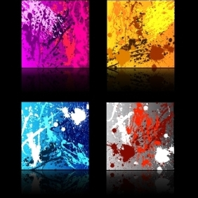 Splat Background Set - vector gratuit #221663