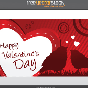 Valentine's Day Card - vector gratuit #221683