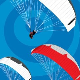 Tandem Paragliders - Free vector #221693
