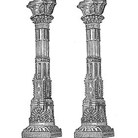 Ancient Temple Columns - vector #221743 gratis