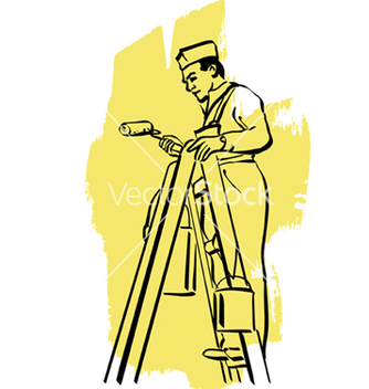 Free house painter vector - Kostenloses vector #221863