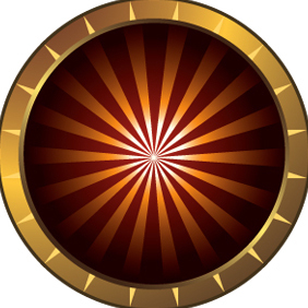 Sunburst Icon Symbol - vector gratuit #222053