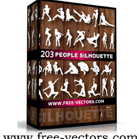 People Silhouettes Pack - vector #222063 gratis