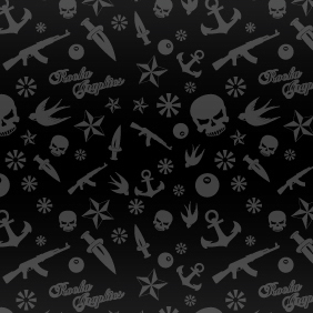 Rock'n'Roll Pattern - бесплатный vector #222133
