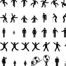 Man & Woman Sign Pictograms - vector gratuit #222213