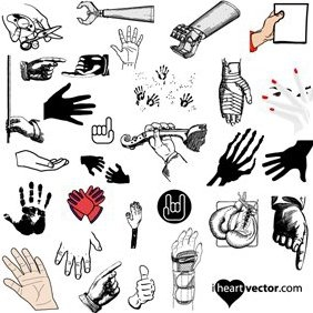 Hand Vector Pack Freebie - Free vector #222233