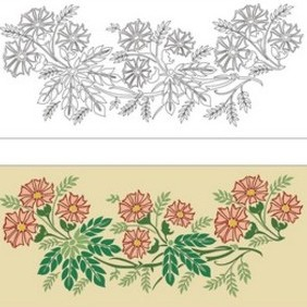 Flowers Pattern - vector gratuit #222283