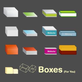 Vector Boxes (variety) - Free - Free vector #222333
