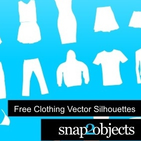 Free Clothing Vector Silhouettes - бесплатный vector #222453