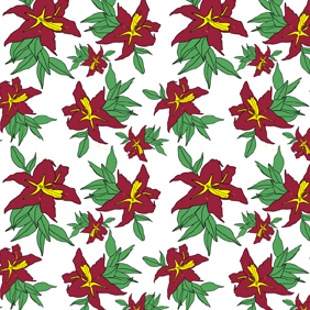 Seamless Flower Pattern-2 - vector gratuit #222473